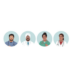 indian medics medical characters doctors and vector image