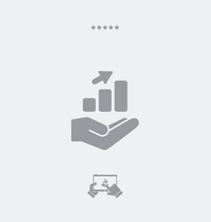 infographic data services - minimal icon vector image