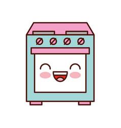 Kawaii cute applicance oven kitchen machine image vector