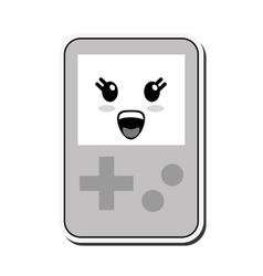Kawaii handheld console icon vector
