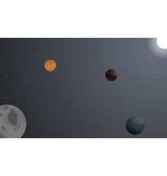 Landscape of space with planet backgrounds vector