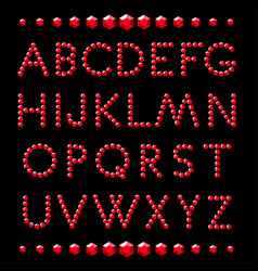 Letters rucrystal alphabet vector
