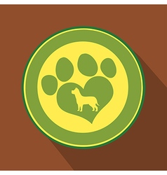 Love Paw Print Icon vector