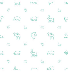 mammal icons pattern seamless white background vector image