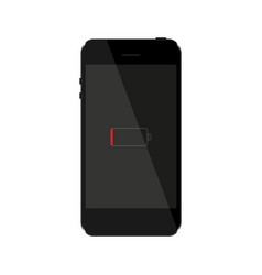 mobile phone of black color on a white background vector image