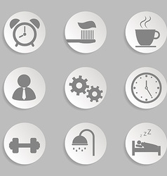Morning icons vector