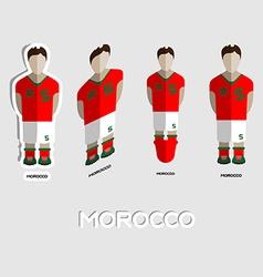 Morocco Soccer Team Sportswear Template vector image