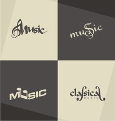 Music logo designs vector image