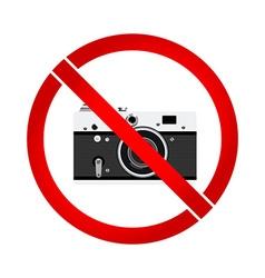 No photo camera prohibition sign vector image