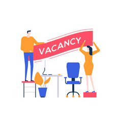 Open vacancy - flat design style colorful vector