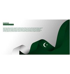 Pakistan independence day design with flying vector