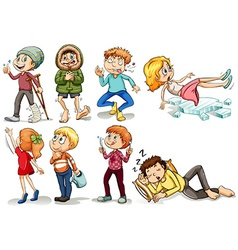 People doing different actions vector image