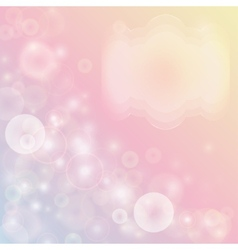 Pink abstract background with bokeh effect vector image