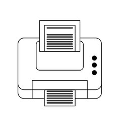 Printer printing icon image vector
