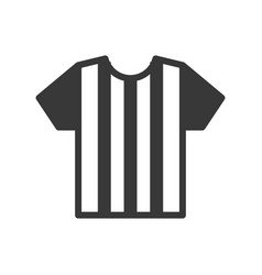 Referee or player uniform soccer related solid vector