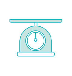 Scale gramer isolated icon vector