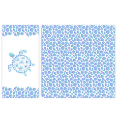 Sea turtle imitation of pebbles seamless pattern vector