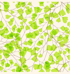 Seamless floral pattern with maidenhair fern leaf vector