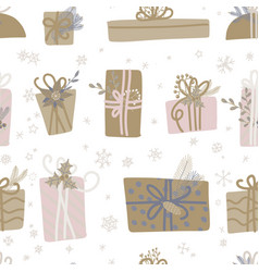 seamless pattern for christmas with elements vector image