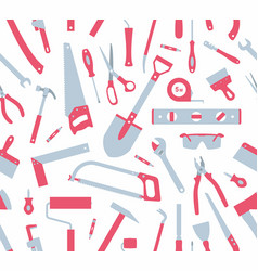 seamless pattern of tools vector image