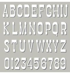 Serif font white vector image