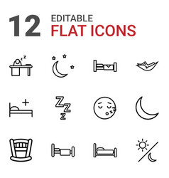 Sleep icons vector