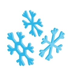 Snowflakes icon isometric 3d style vector image