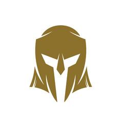 Spartan logo design template spartan helmet logo vector