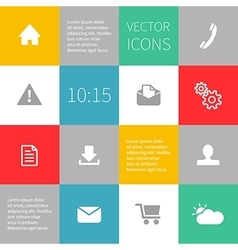 squares background infographics with icons vector image