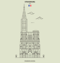 strasbourg cathedral vector image