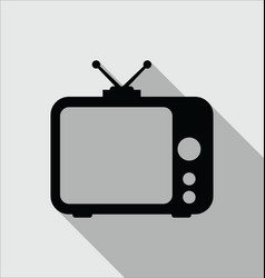 tv icon in modern flat style isolated on grey vector image