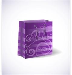 violet shopping bag vector image