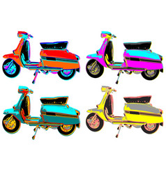 Warhol mod scooters vector