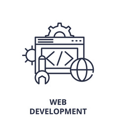 web development line icon concept web development vector image