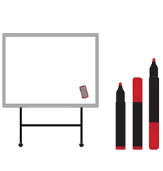 White board with markers vector image