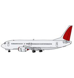 White jet airliner vector