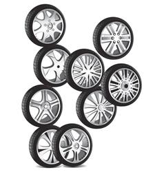 automotive wheel vector image vector image