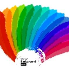 Multicolor Sunbeams grunge background vector image vector image