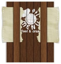 template frame restaurant menu wooden boards white vector image vector image