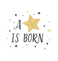 a star is born fashion for kids vector image vector image