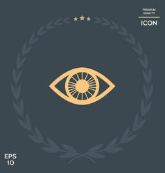 eye symbol icon vector image vector image