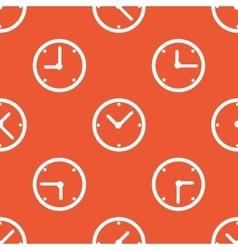 Orange clock pattern vector