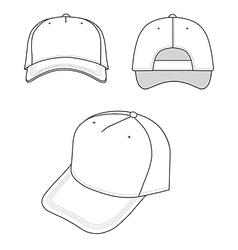 Outline cap vector