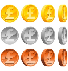 pound coins vector image vector image