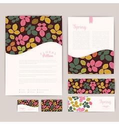 Set of floral vintage wedding cards invitations vector image