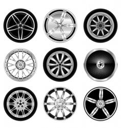 sporty aluminum wheel vector image vector image