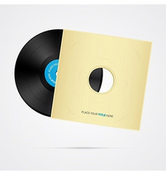 Vinyl Record Disc with Cover vector image