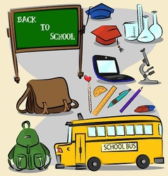 Back to school stroke version 2 vector image