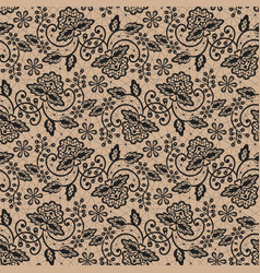 black lace background vector image vector image