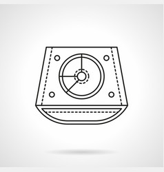abstract dj mixer flat line icon vector image